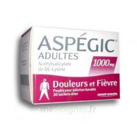 Aspegic Adultes 1000 Mg, Poudre Pour Solution Buvable En Sachet-dose 20 à DURMENACH