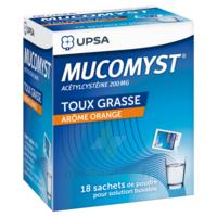 MUCOMYST 200 mg Poudre pour solution buvable en sachet B/18 à DURMENACH