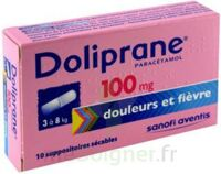 Doliprane 100 Mg Suppositoires Sécables 2plq/5 (10) à DURMENACH