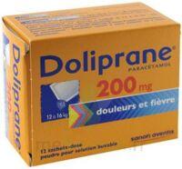 DOLIPRANE 200 mg Poudre pour solution buvable en sachet-dose B/12 à DURMENACH