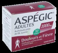 Aspegic Adultes 1000 Mg, Poudre Pour Solution Buvable En Sachet-dose 30 à DURMENACH