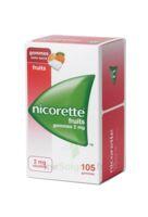 Nicorette 2 Mg Gomme à Mâcher Médicamenteuse Sans Sucre Fruits Plq/105 à DURMENACH
