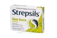 STREPSILS CITRON SANS SUCRE, pastille édulcorée à l'isomalt, au maltitol et à la saccharine sodique à DURMENACH