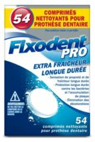 Fixodent Pro Comprimés Nettoyant Fraîcheur Longue Durée Pour Prothèse Dentaire B/54 à DURMENACH