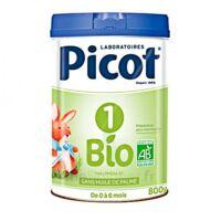 Picot Bio 1 Lait poudre B/800g à DURMENACH