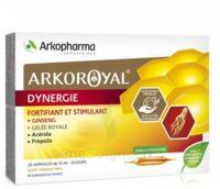 Arkoroyal Dynergie Ginseng Gelée royale Propolis Solution buvable 20 Ampoules/10ml à DURMENACH