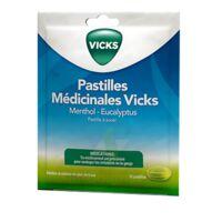PASTILLES MEDICINALES VICKS Past à sucer menthol eucalyptus Sach/18 à DURMENACH