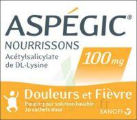 Aspegic Nourrissons 100 Mg, Poudre Pour Solution Buvable En Sachet-dose à DURMENACH