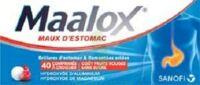 Maalox Maux D'estomac Hydroxyde D'aluminium/hydroxyde De Magnesium 400 Mg/400 Mg Sans Sucre Fruits Rouges, Comprimé à Croquer édulcoré à La Saccharine Sodique, Au Sorbitol Et Au Maltitol à DURMENACH
