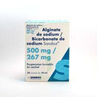 ALGINATE DE SODIUM/BICARBONATE DE SODIUM SANDOZ 500 mg/267 mg, suspension buvable en sachet à DURMENACH