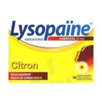 LYSOPAÏNE MAUX DE GORGE AMBROXOL CITRON 20 mg SANS SUCRE, pastille édulcorée au sorbitol et au sucralose à DURMENACH