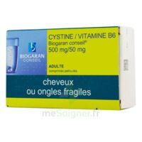 Cystine/vitamine B6 Biogaran Conseil 500 Mg/50 Mg Cpr Pell Plq/120 à DURMENACH