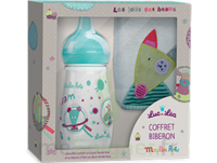 "Coffret biberon 270 ml + Bavoir ""collection capsule Moulin Roty"" à DURMENACH"