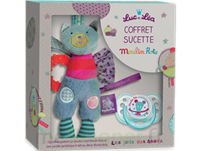 "Coffret Doudou + Sucette 0-6 mois""collection capsule Moulin Roty"" à DURMENACH"