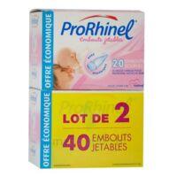 PRORHINEL Lot de 2 x 20 Embouts Jetables Souples pour Mouche Bébé à DURMENACH