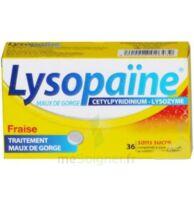 LYSOPAÏNE MAUX DE GORGE CETYLPYRIDINIUM LYSOZYME FRAISE SANS SUCRE, comprimé à sucer édulcoré au sorbitol et à la saccharine à DURMENACH