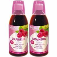 Milical Draineur Ultra Solution Buvable Framboise 2*500ml à DURMENACH