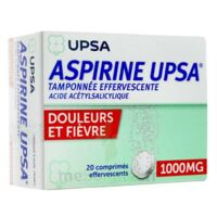 ASPIRINE UPSA TAMPONNEE EFFERVESCENTE 1000 mg, comprimé effervescent à DURMENACH
