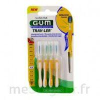 Gum Trav - Ler, 1,3 Mm, Manche Jaune , Blister 4 à DURMENACH