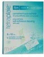 Tetraplaie Film Pansement adhésif stérile film PU 9x10cm B/5 à DURMENACH