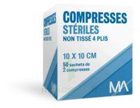 Marque Conseil Compresse Stérile Non Tissé 10x10cm 50 Sachets/2 à DURMENACH