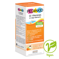 Pédiakid 22 Vitamines et Oligo-Eléments Sirop abricot orange 125ml à DURMENACH