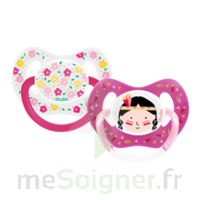 Dodie Duo Sucette anatomique silicone +18mois Girly à DURMENACH