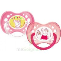 Dodie Duo Sucette anatomique silicone +18mois Peppa pig