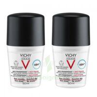 Vichy Homme Déodorant anti-transpirant anti trace 48H 2*Billes/50ml à DURMENACH