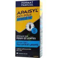 Apaisyl Anti-poux Xpress 15' Lotion Antipoux Et Lente 200ml+peigne à DURMENACH