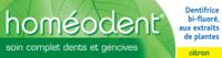 Boiron Homéodent Soin Complet Dents Et Gencives Pâte Dentifrice Citron 2t/75ml à DURMENACH