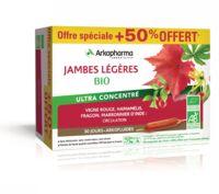 Arkofluide Bio Ultraextract Solution Buvable Jambes Légères 30 Ampoules/10ml à DURMENACH