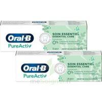 Oral B Pureactiv Dentifrice Soin Essentiel 2t/75ml à DURMENACH