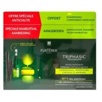René Furterer Triphasic Progressive Sérum Antichute Coffret 8 Flacons X 5,5ml + Shampoing Stimulant 100 Ml à DURMENACH